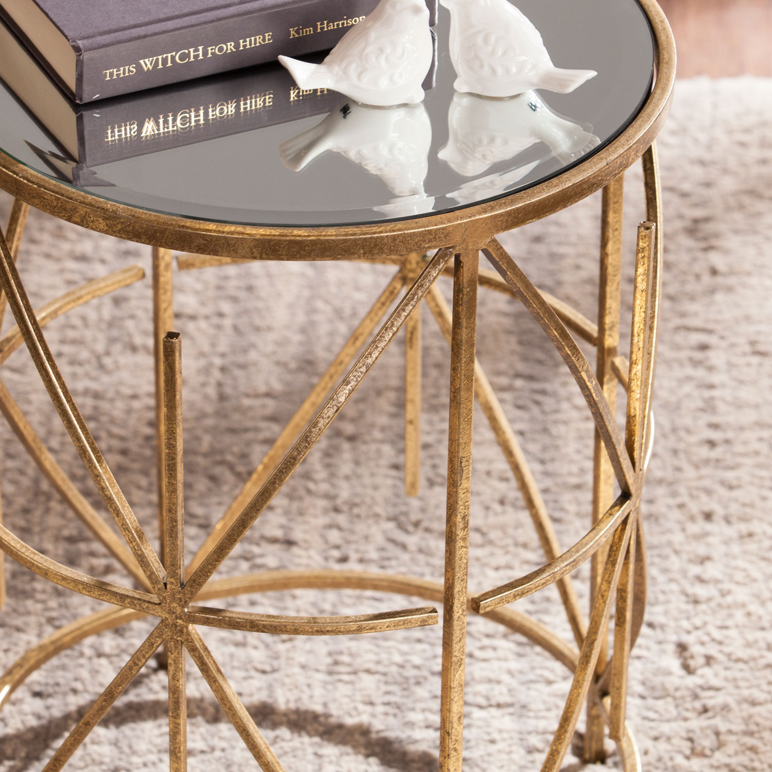 southern enterprises starina accent table bellacor clarissa metal hover zoom placemat brown end tables furniture ashley chairside paper lamp shades modern designs mid century