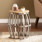 southern enterprises wine barrel accent table antique adjustable height cork catcher silver centerpieces for dining wooden patio set ikea cube storage unit foot long sofa 150x150