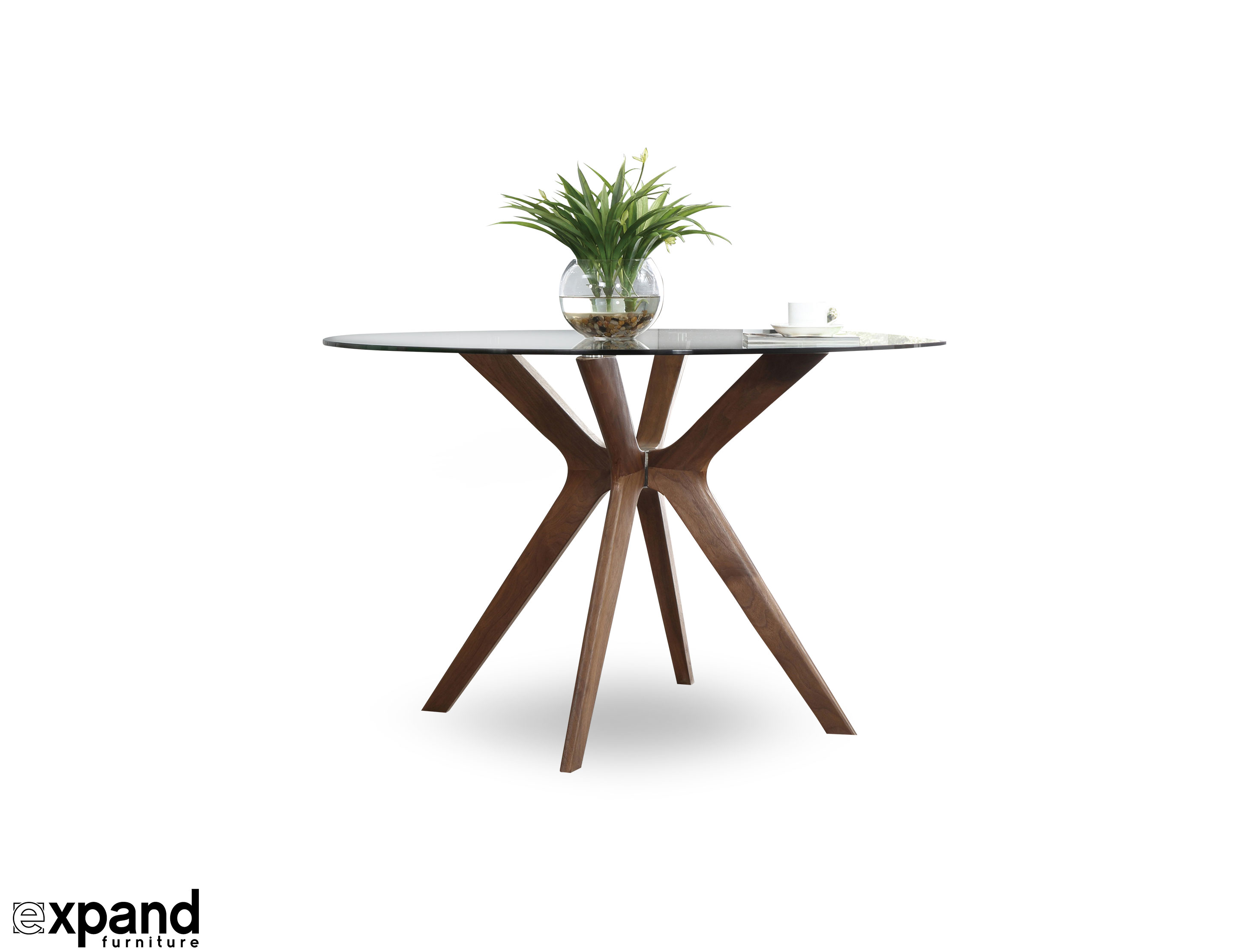space saving tables extending dining occasional the branch clear glass round table that rests wood legs extra small accent target console white mirrored coffee desktop computer