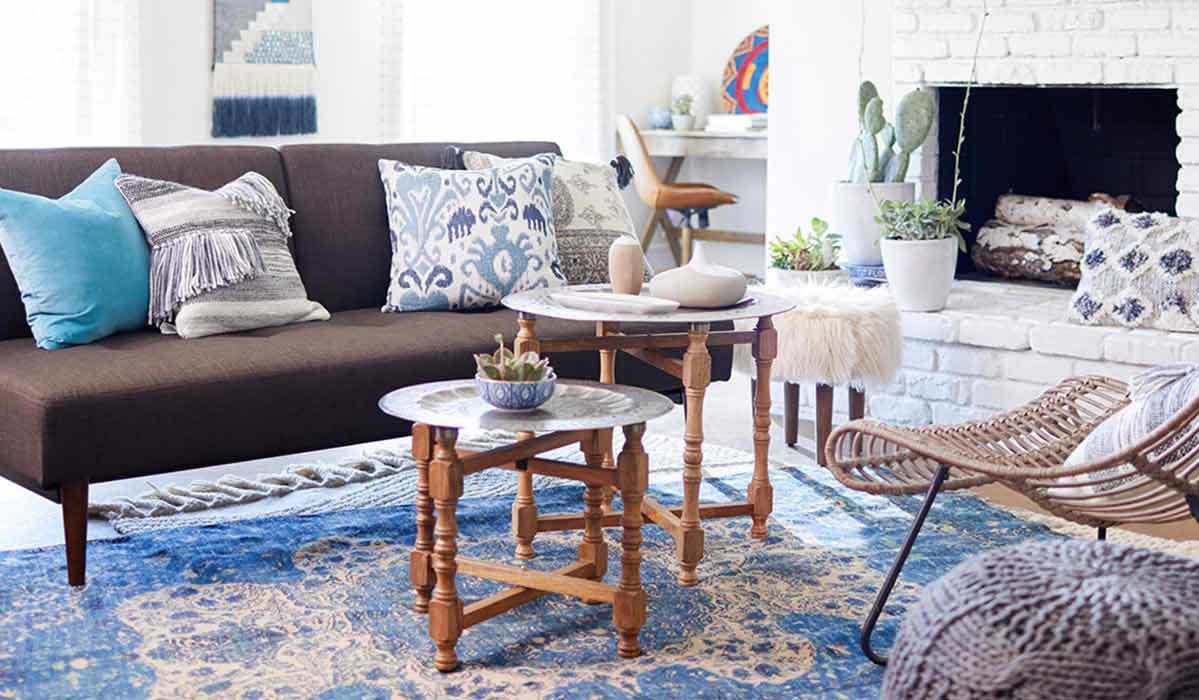 special holiday whitney mirrored campaign accent table don clear get the look fresh take small space slim drop leaf antique dining with folding sides nightstand pine trestle ikea