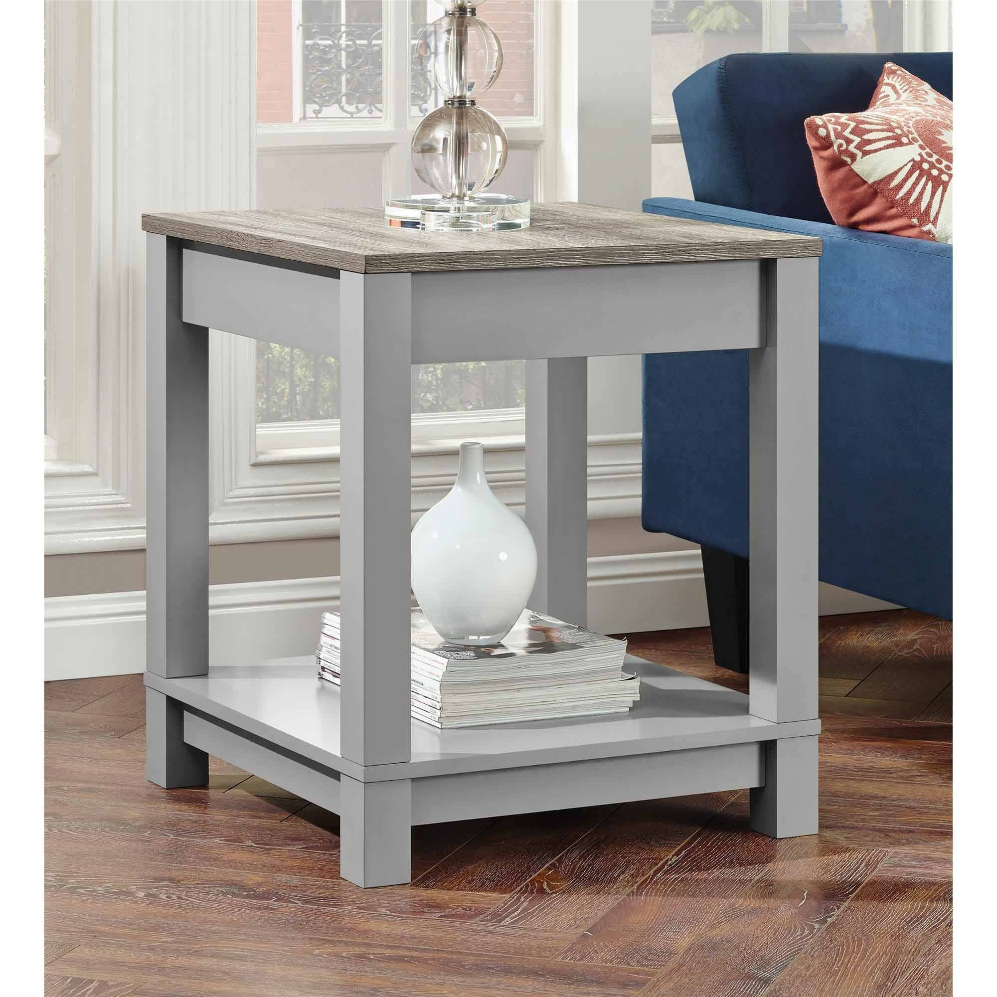 spectacular better homes and garden rustic end table gardens accent gray student computer desk little with drawers nautical lamp shades lamps rhinestone shade large white