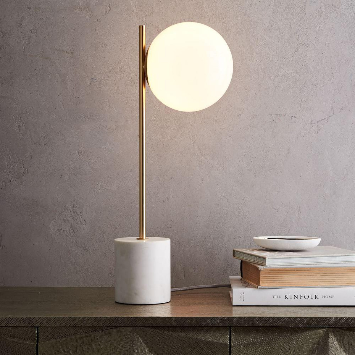 sphere stem table lamp west elm media accent spotlight diy crate end small retro side spring home decor bedroom lamps with usb ports round metal outdoor coffee pendant yuma