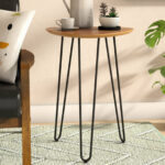 spindle leg side table goldner hairpin wood end slab accent tiffany style lamp pedestal base black half moon glass top couch narrow mirrored console pier one outdoor umbrellas 150x150