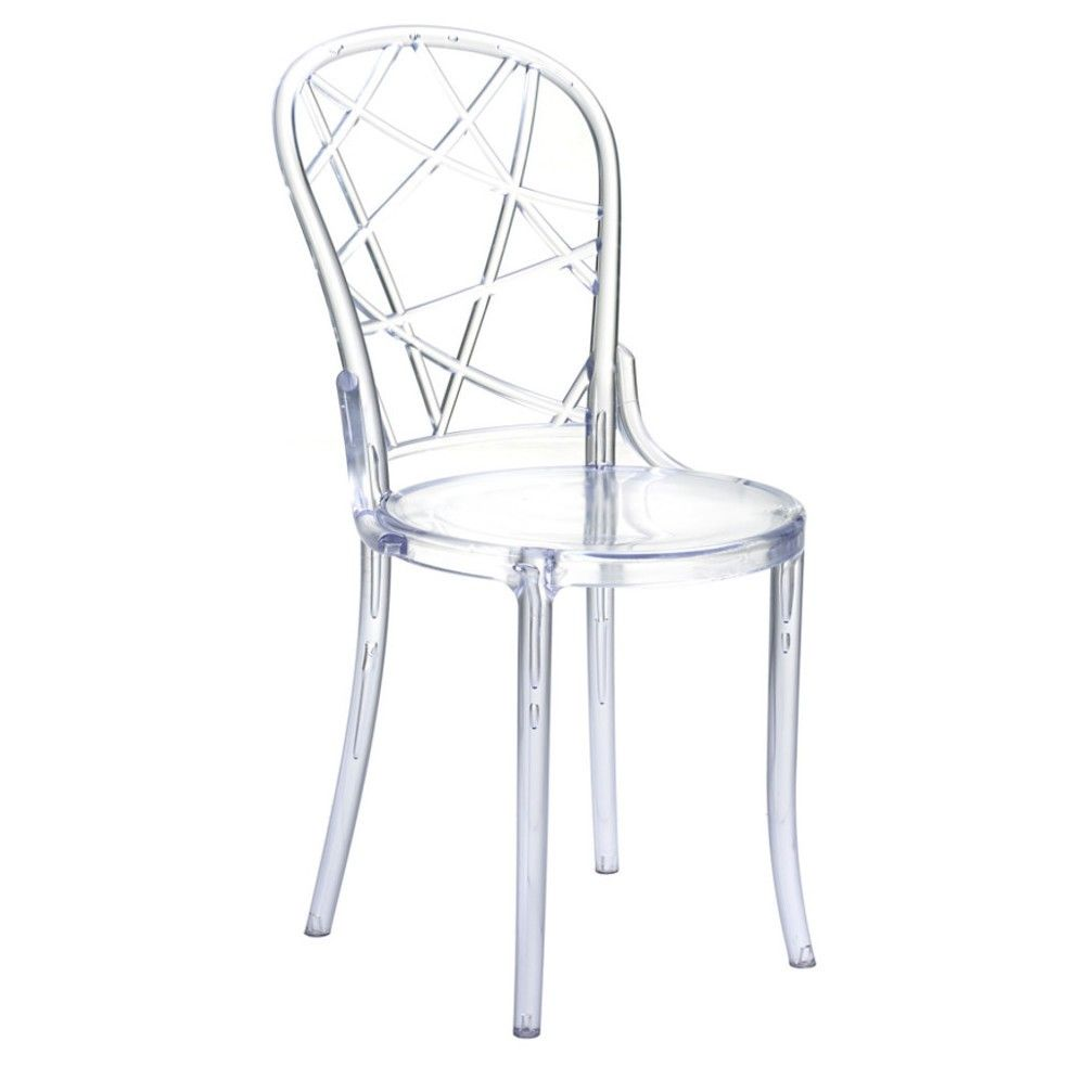 spiral clear dining chair fine mod imports acrylic zella accent table argos garden and chairs yacht furniture small round antique navy linens wedge side pub screw wooden legs