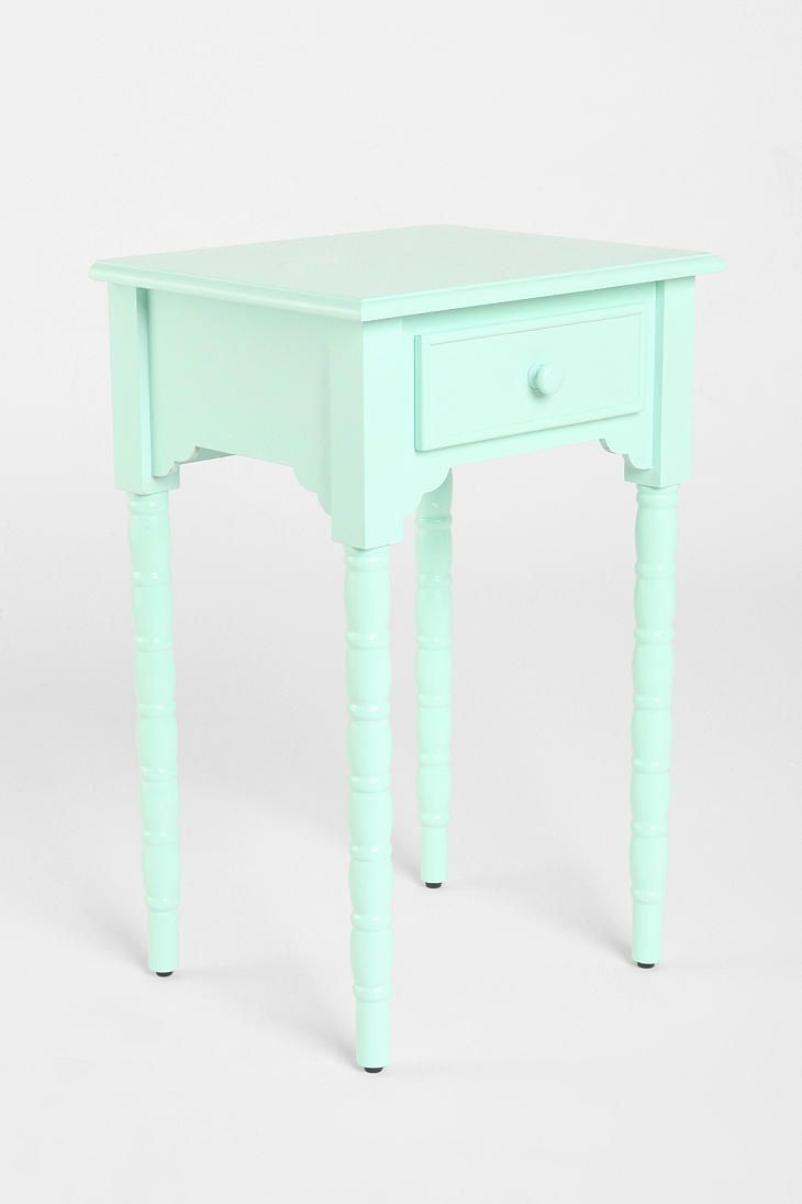 spool side table present future homestead bedroom small mint green furniture accent room and gold home decor pine bedside tables piece living homebase garden cream colored