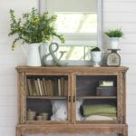 spring home tour giveaway farmhouse everything modern accent table decoracion armario vintage recuperado mantal decor rustic mantle nautical dining room chandelier half console 150x150