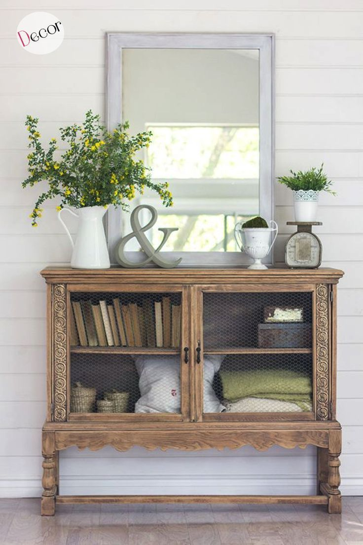 spring home tour giveaway farmhouse everything modern accent table decoracion armario vintage recuperado mantal decor rustic mantle nautical dining room chandelier half console