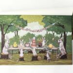 spring social placemat products table accent scene hand painted the artist elizabeth foster collaboration with hester cook this paper placemats are perfect metal floor reducer 150x150