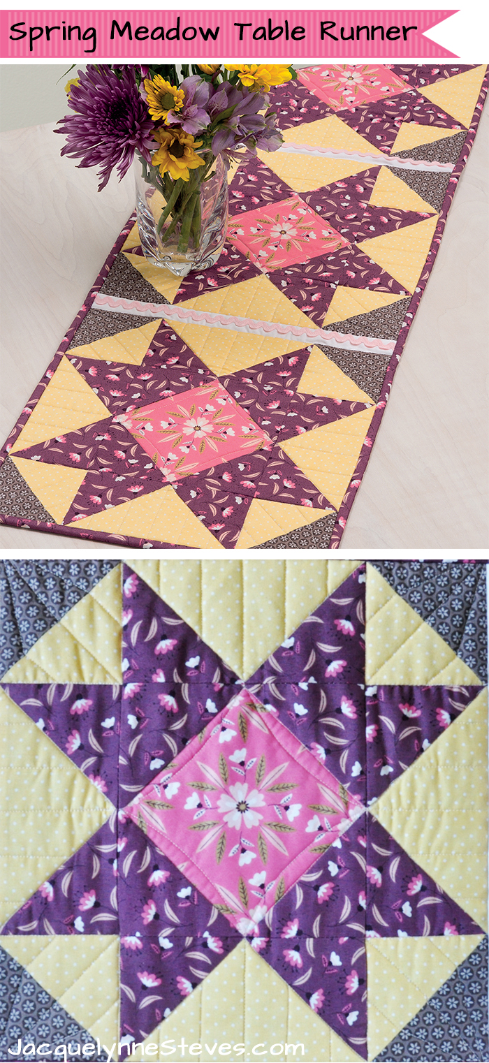 spring table runner pattern jacquelynne steves meadow for martingale accent your focus this pretty little project which designed get the free over here runners next grey kitchen