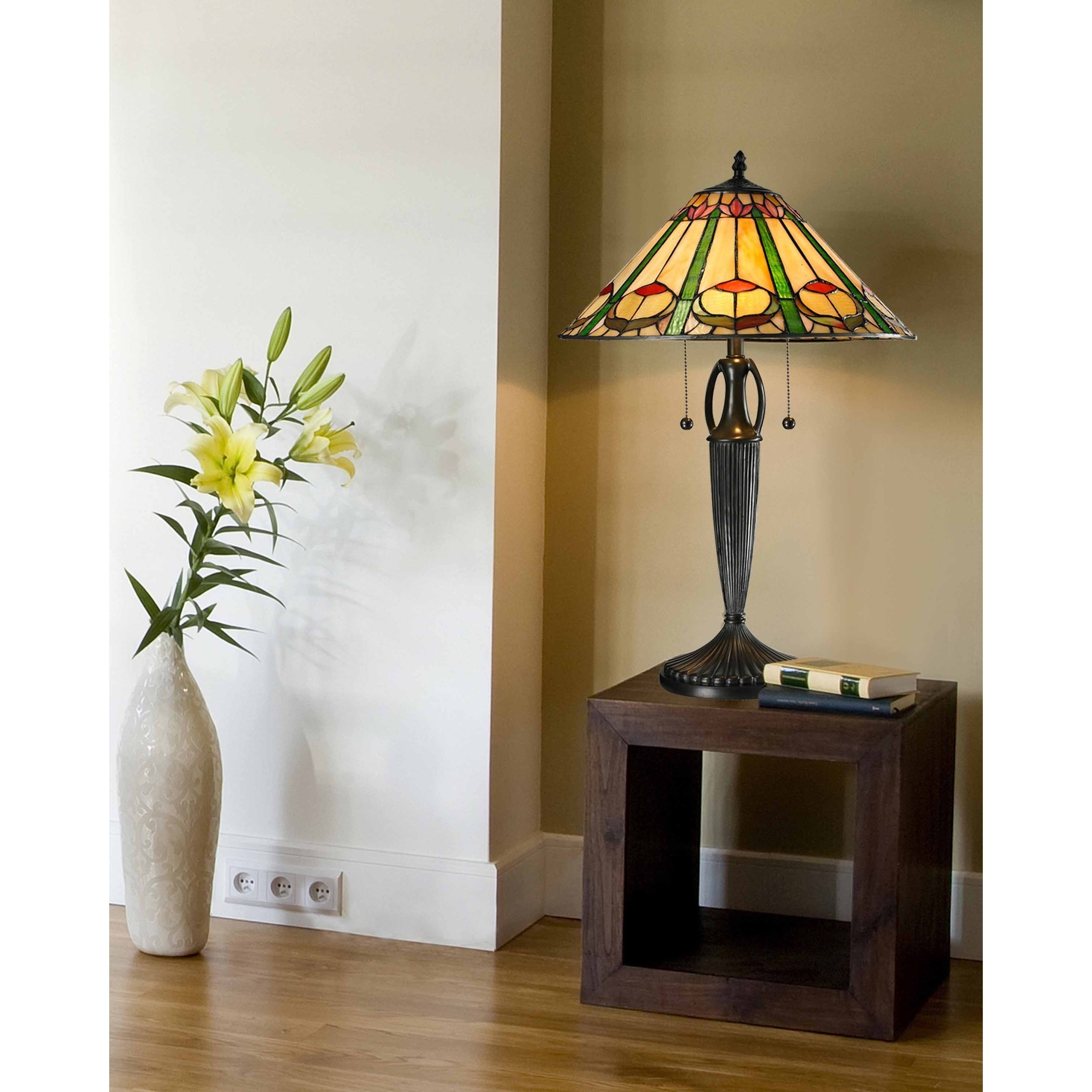 springdale quill table lamp free shipping dale tiffany select accent lamps today brass for living room outdoor wicker coffee with glass top shelf behind couch modern teak