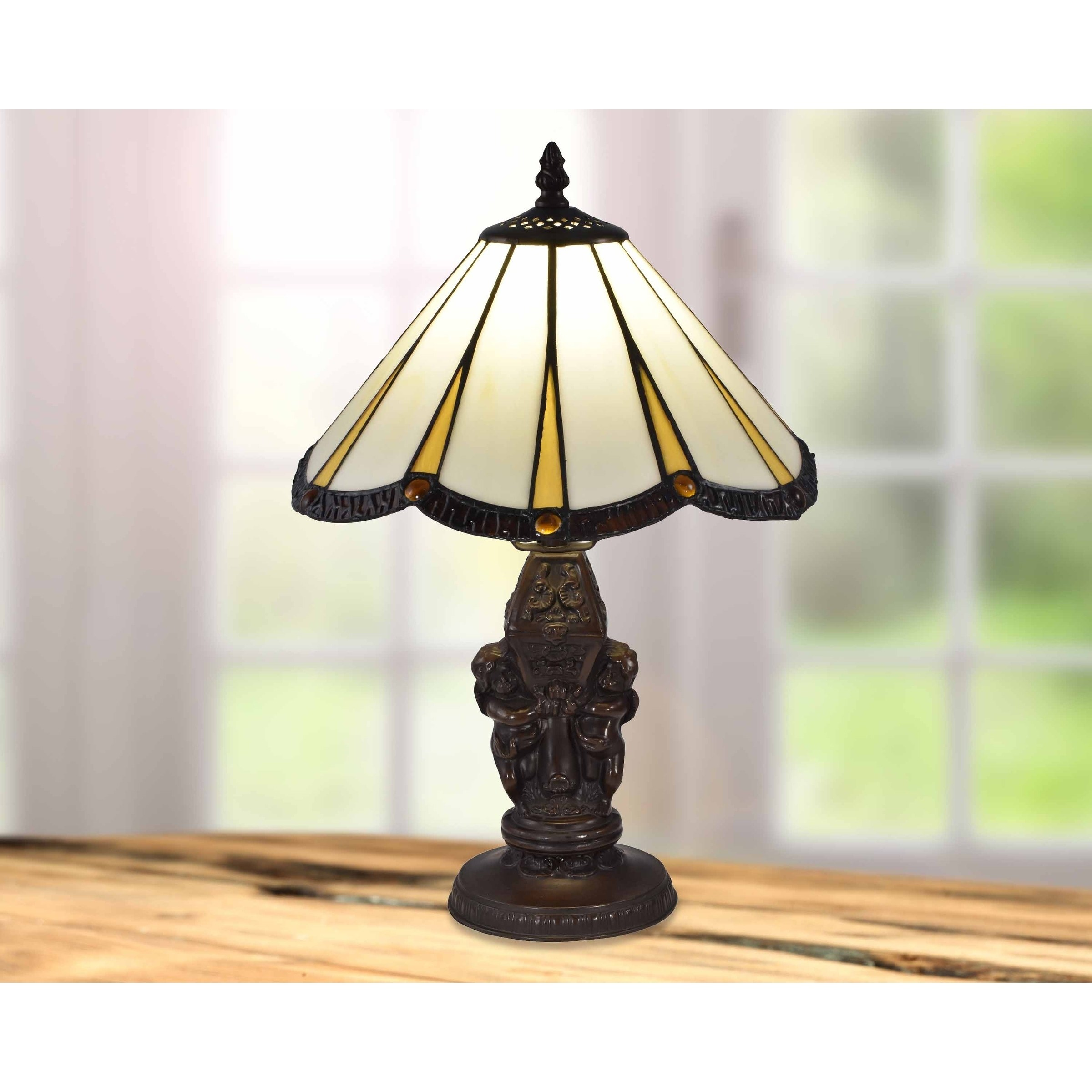 springdale rosita tiffany accent table lamp lamps free shipping today distressed dining room furniture console round side industrial with drawer cherry end tables queen anne