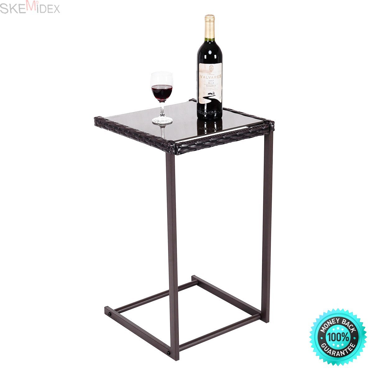 square accent table find line glass get quotations skemidex brown coffee tray side sofa end rattan wicker mosaic garden furniture grey gloss nest tables mirror ikea occassional