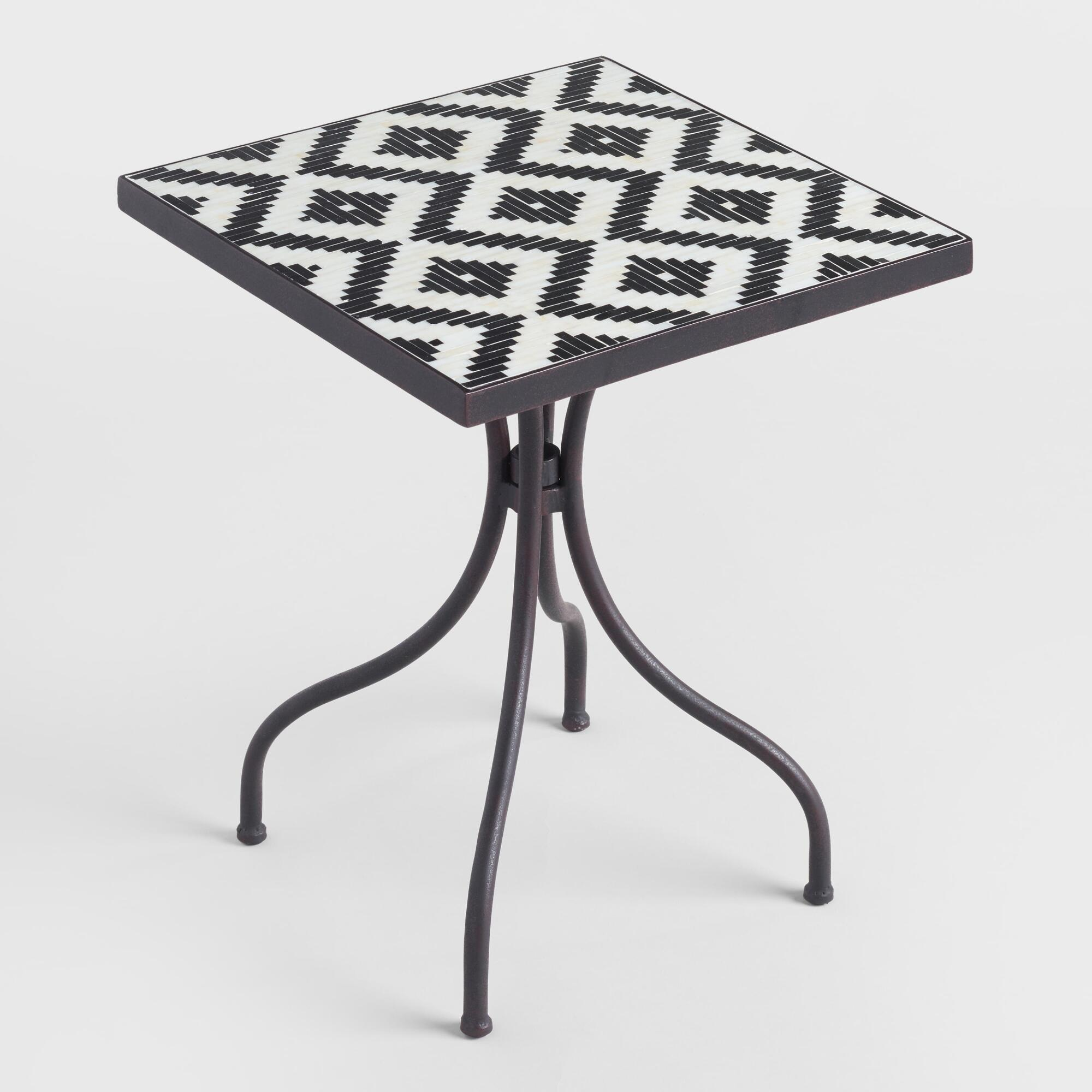 square black and white cadiz outdoor accent table world market iipsrv fcgi casual dining sets round cherry tall pedestal sea themed lamps off bedside marble top pub set counter