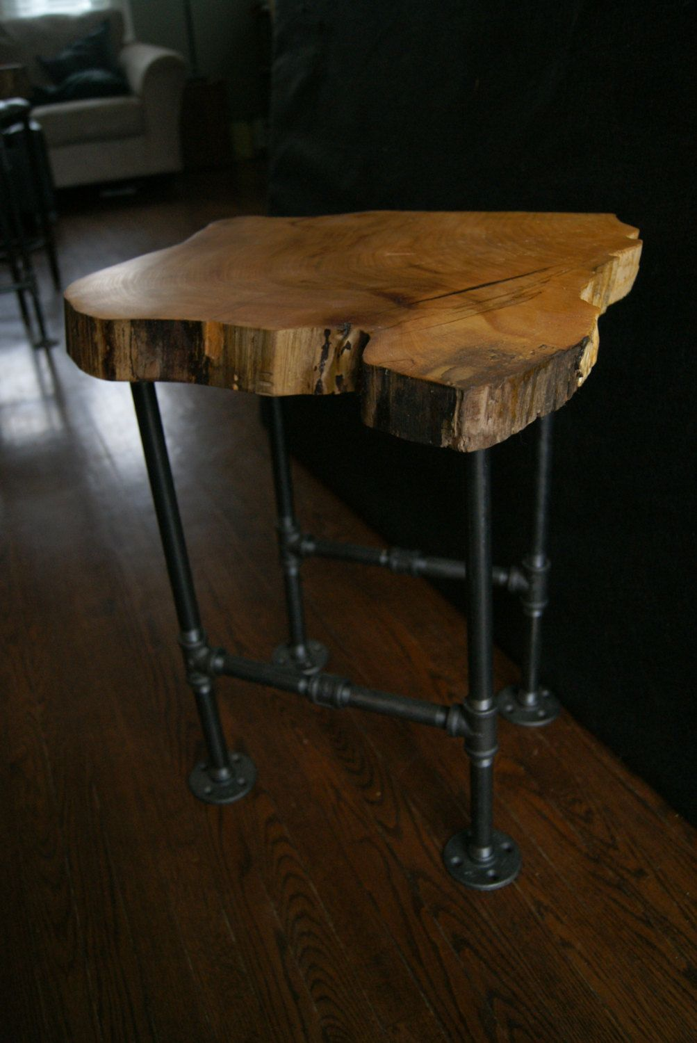 square coffee table tray probably perfect live wood end natural edge elm slab rocksandrootsaccents craft ikea black with glass top ethan allen old tavern home goods accent chairs