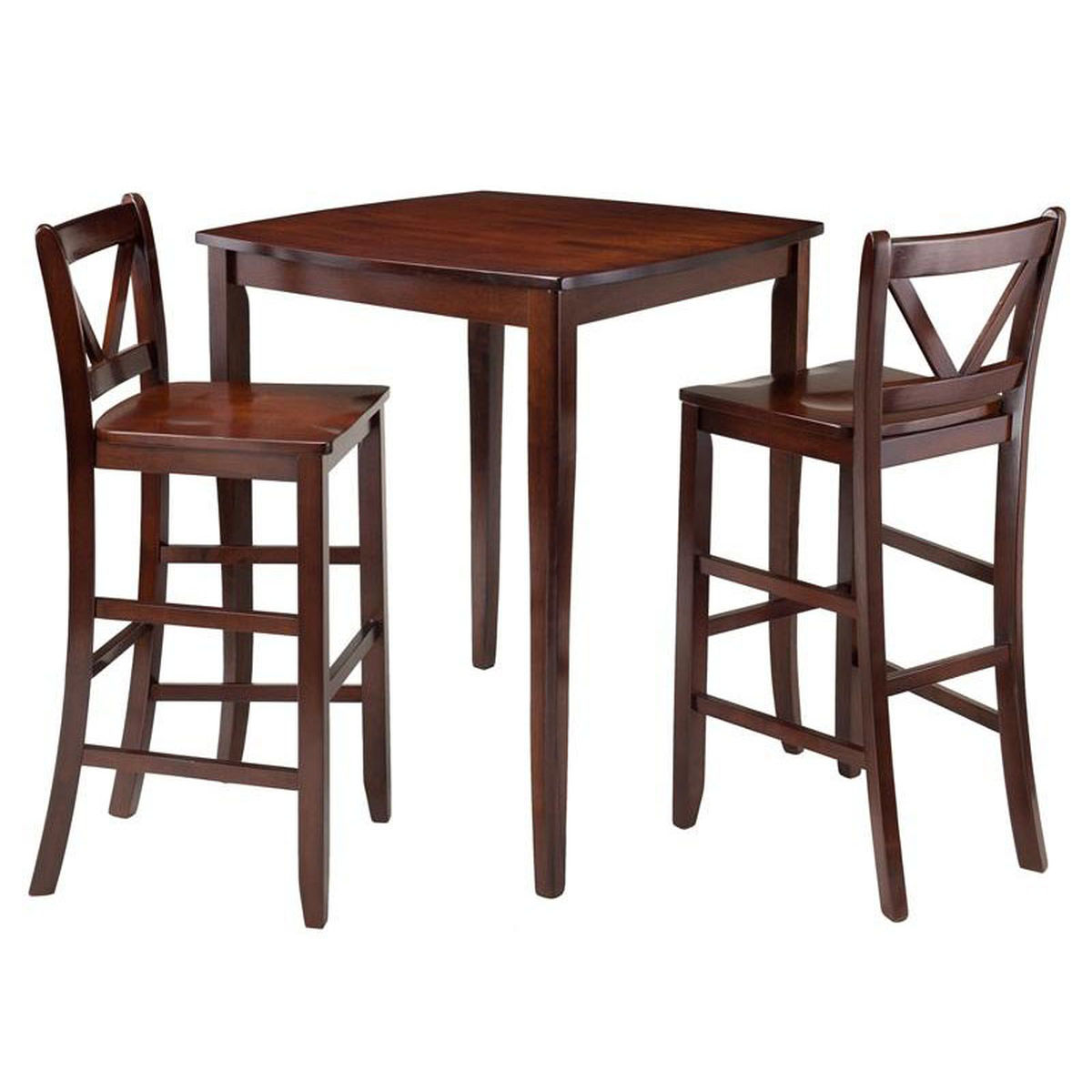 square dining table set bizchair winsome wood wwt main accent walnut our inglewood with barstools round glass small target tufted chair red wingback marble metal coffee chests and