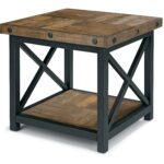 square end table with wood plank top flexsteel wolf gray accent gallerie coupon painted coffee ideas black and grey marble leick corner computer desk oval glass set seaside decor 150x150