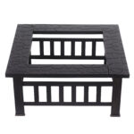 square fire pit metal table outdoor fireplace patio heater bbq grill side stove multi drawer chest rustic coffee set rectangular marble dining furniture collections garden storage 150x150