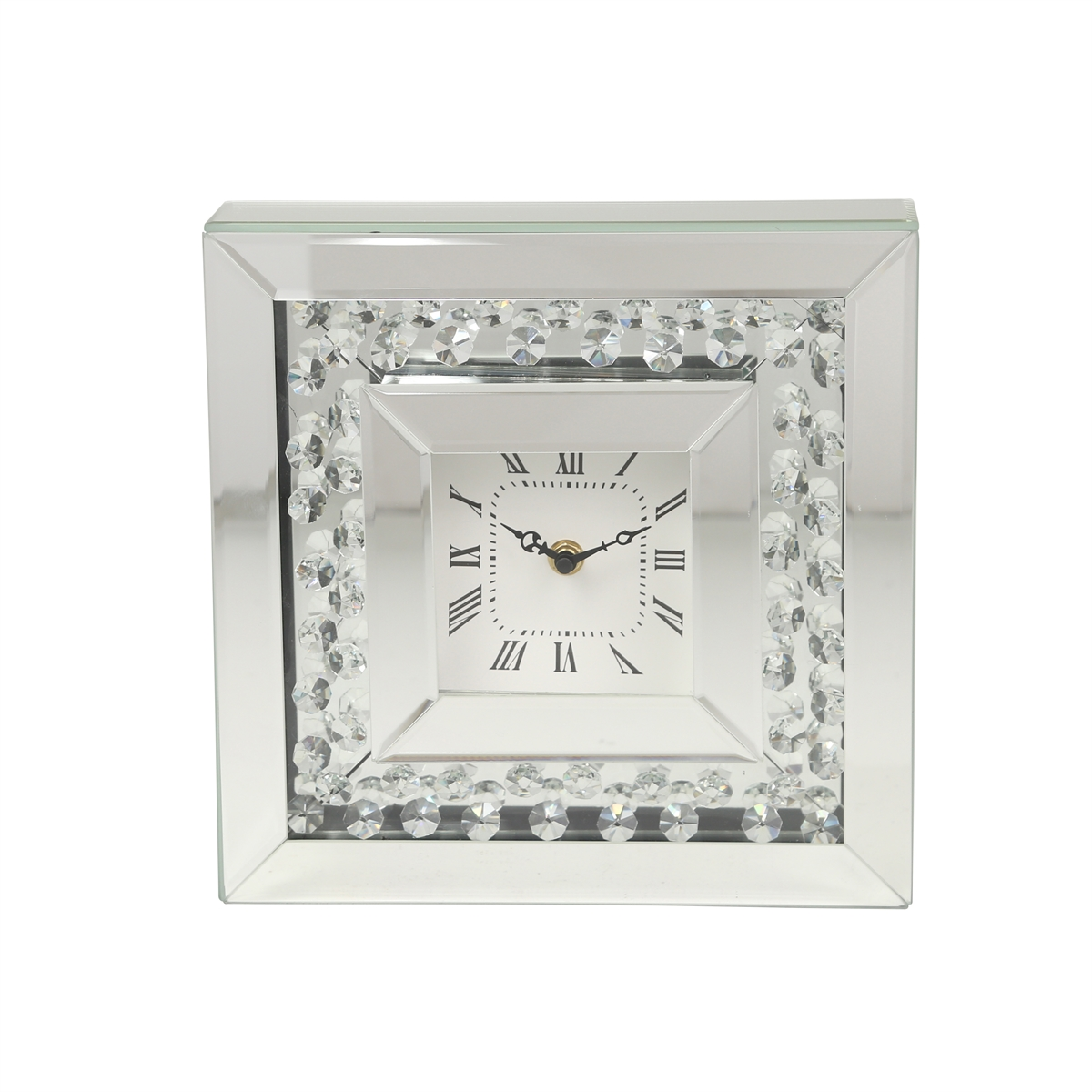 square mirrored diamond clock sagebrook home accent table furniture for entrance foyer round dark wood end west elm pillar lamp linens tall glass tables light colored design