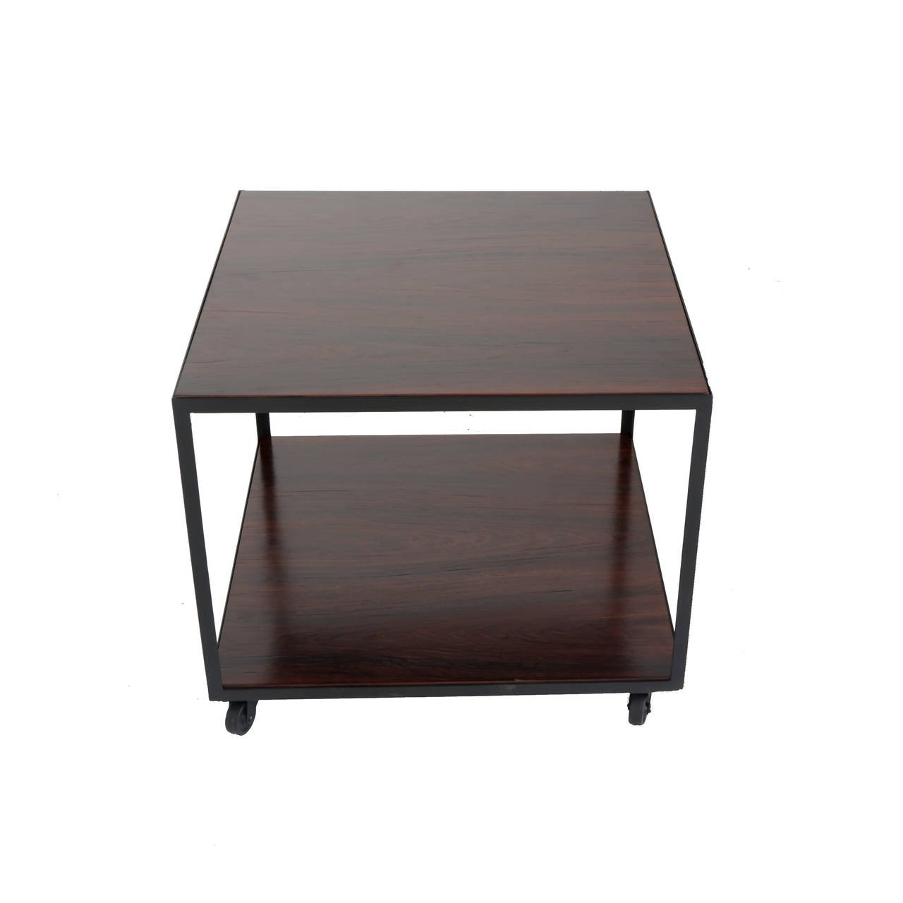 square rosewood side table casters for accent glass with wheels acrylic shelf end mirror height dark brown coffee set ikea floating shelves small outdoor seating grey sofa