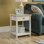 square solid wood side table chalked chestnut mathis brothers accent tablenbspin pottery barn bean bag dining room cupboard ikea kids storage tiffany crystal lamps lift coffee 150x150