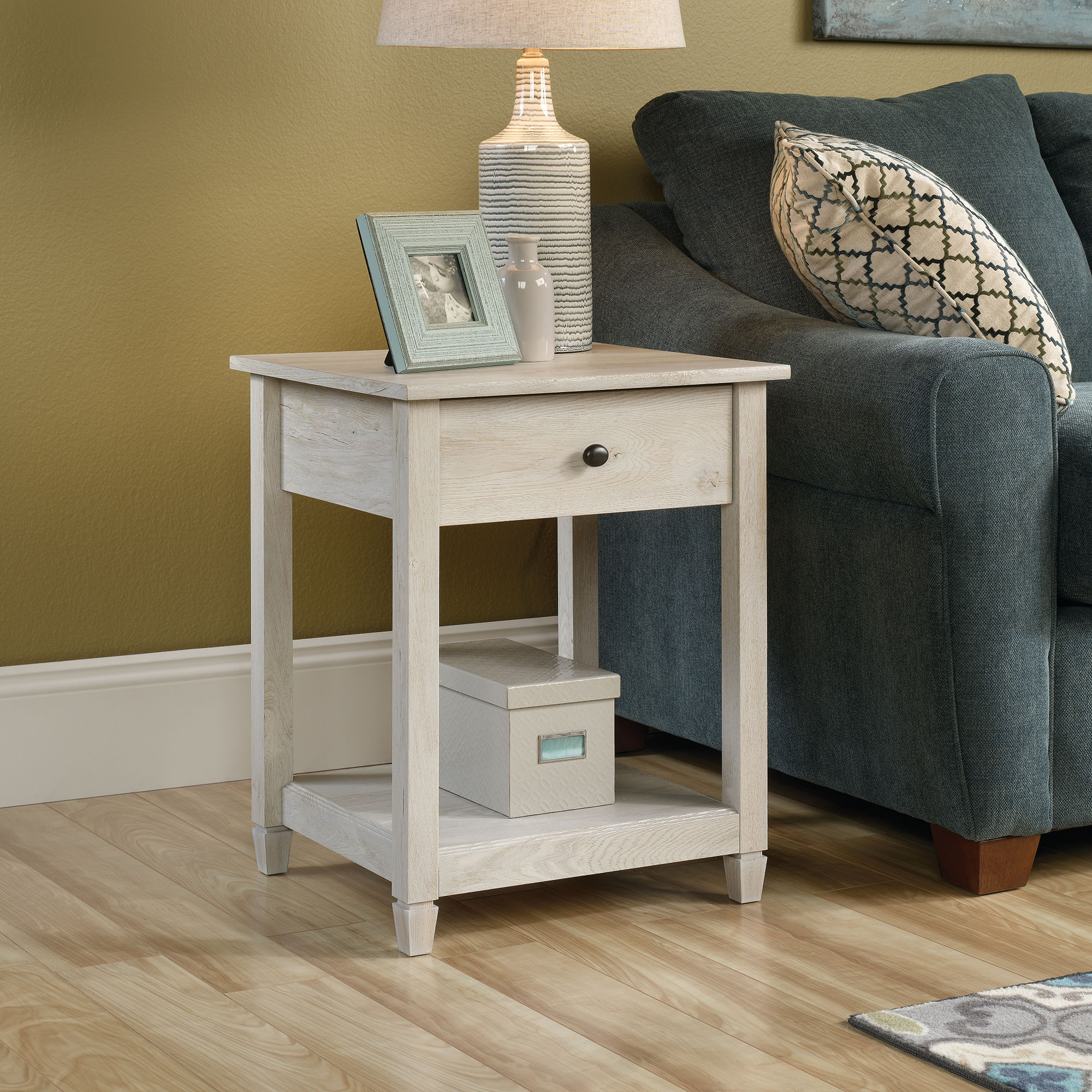 square solid wood side table chalked chestnut mathis brothers accent tablenbspin pottery barn bean bag dining room cupboard ikea kids storage tiffany crystal lamps lift coffee