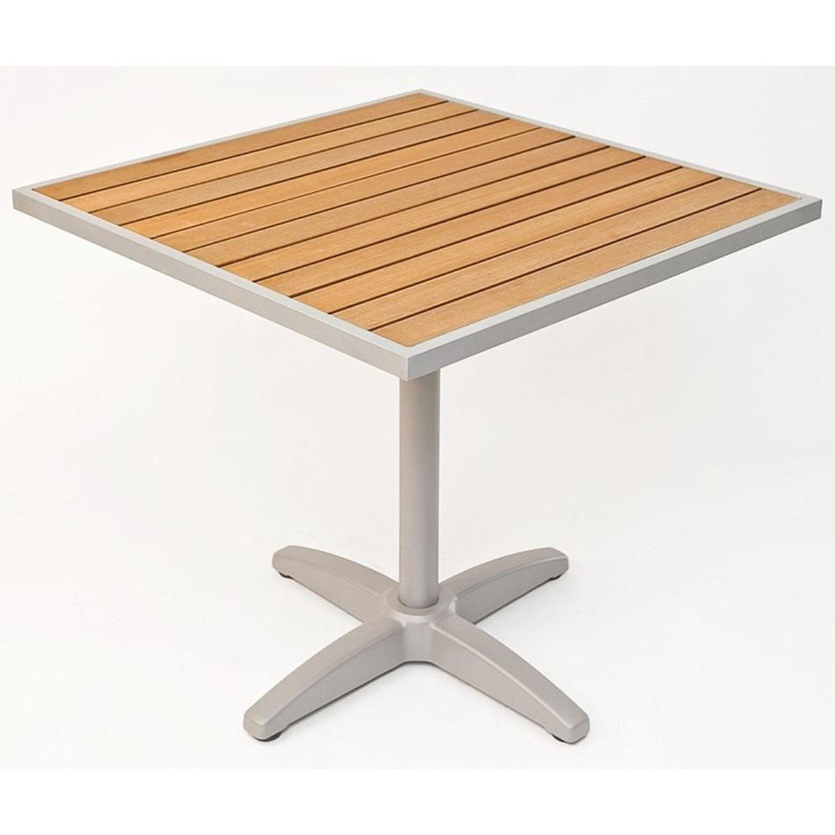 square teak dining table outdoor seating fls main end our synthetic top with silver base glass live wood slab kitchen baby rocking chair target trunk coffee large accent butler