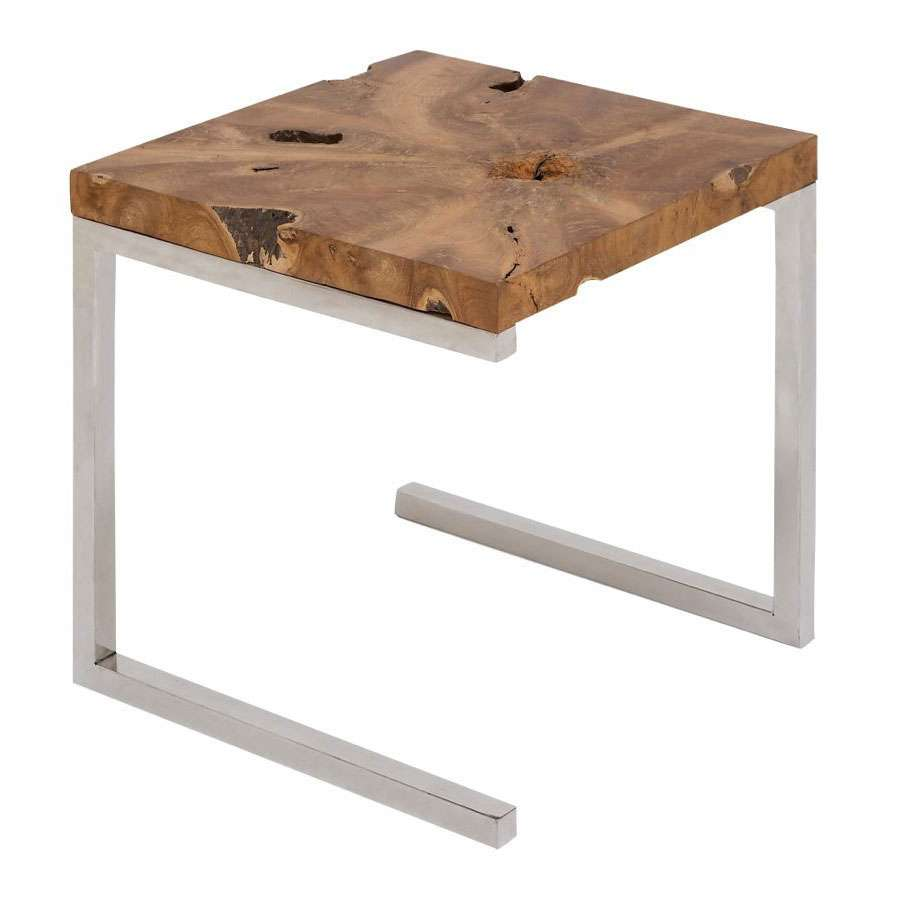 square teak wood accent table piece nesting tables sectional with ott anchor lamp easy fruity mixed drinks corner writing desk gold and coffee rectangular nest tier kids folding