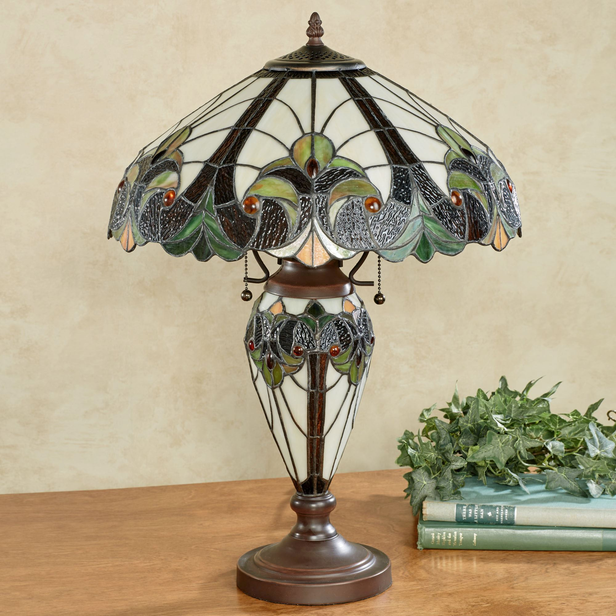 stained glass accent lamp antique tiffany lamps floor buffet table patio furniture for less modern design chair set west elm audio dale hanging industrial pub black living room