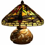 stained glass mini dragonfly table lamp mosaic base miniature accent lamps storage cabinet dining chairs pottery barn white round shaped executive desk eos vita outdoor grill 150x150