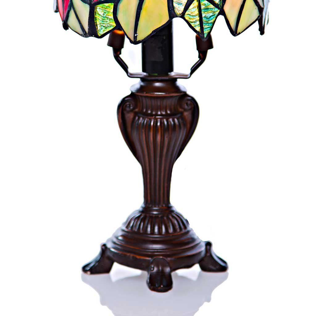 stained glass poinsettia accent table lamp west elm square dining bronze coffee home decor accessories farmhouse style chairs dressers furniture modern linens childrens bedroom