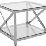 stainless steel chrome glass accent table safavieh square round farmhouse dining dorm sets oval garden grey gloss nest tables used west elm lucite bedside marble room set rattan 150x150