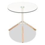 stainless steel wood glass accent table bob furniture gallery large metal with top ashley nesting tables local west elm floor pillow round coffee cover target white and gold side 150x150