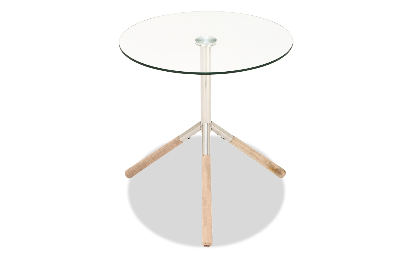 stainless steel wood glass accent table bob furniture gallery large metal with top ashley nesting tables local west elm floor pillow round coffee cover target white and gold side