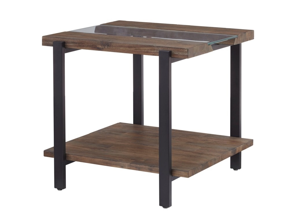 standard furniture dumont industrial end table with live edge products color accent brown threshold dunk bright tables black pipe tall entryway cabinet half moon glass pink