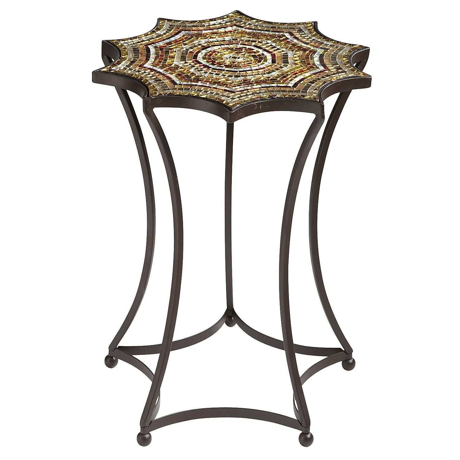 starburst mosaic accent table pier imports living room pertaining tables nautical sconces indoor lighting round dining for skirts decorator wooden bar rustic wine rack ethan allen
