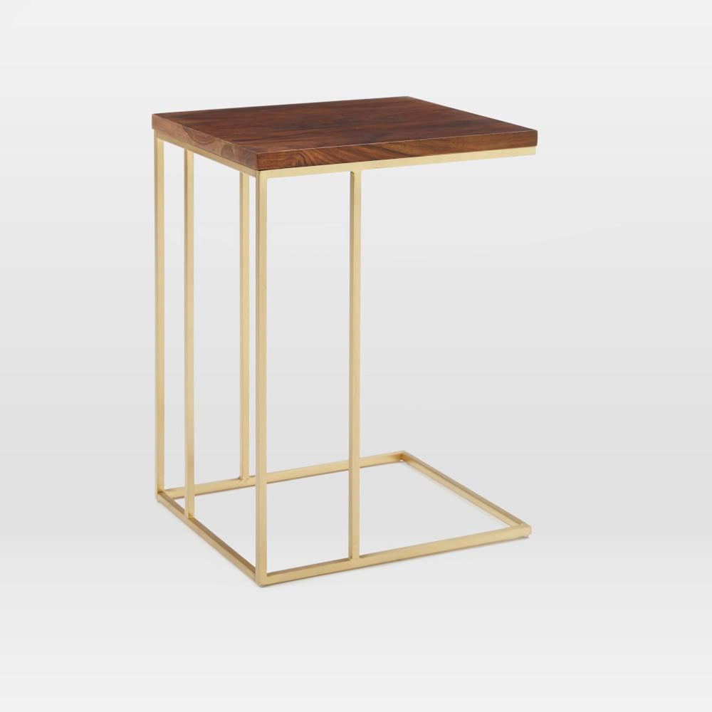 statement making gold side tables available now sarah brass table accent west elm ceramic ginger jar lamps target kitchen narrow marble coffee super slim console black bedside