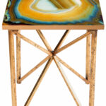 statements agate end table glass accent tall corner sofa animal print chair top gold wood coffee inch high tables desk combo living room chairs for small spaces mid century lounge 150x150