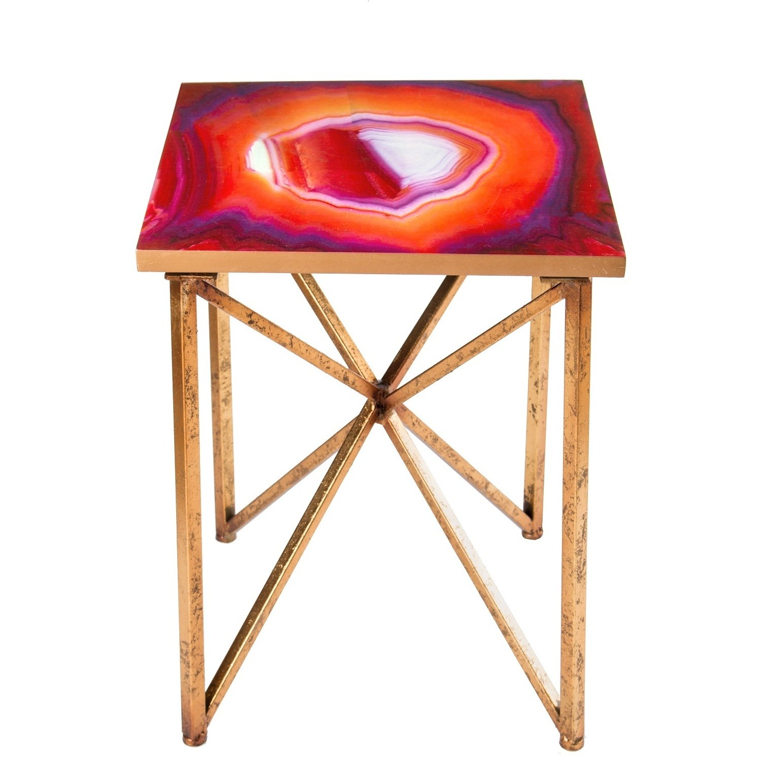 statements rouge agate side table inch tall free glass accent shipping today round and chairs basic coffee jacket hoodie gold decorative accessories tablecloth for lounge