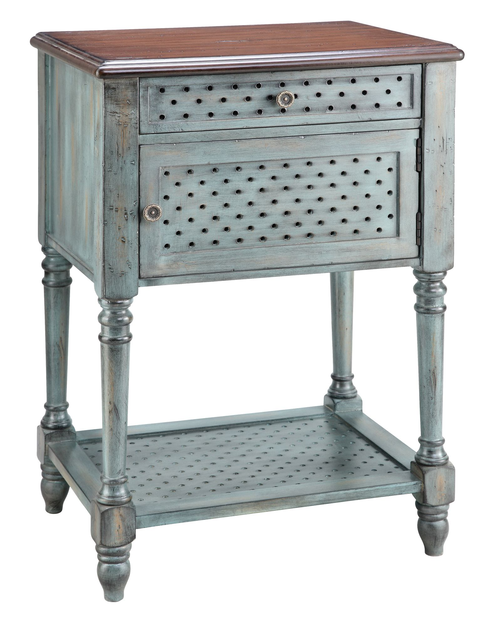 stein world painted treasures door drawer moonstone accent table with doors bark thins target antique pedestal side outdoor dining chairs clearance moroccan mosaic garden xmas