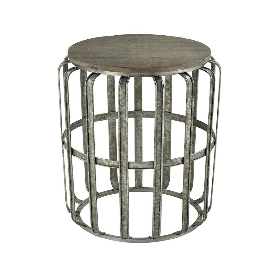 sterling gunwharf accent table salvaged grey oak galvanized steel metal details about green end tables with storage wicker patio sets clearance corner nightstand antique black
