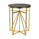 sterling industries gold and dark espresso geometric accent table height chairs side inches high cream metal ikea white bedside wooden storage crates cool round tablecloths 150x150
