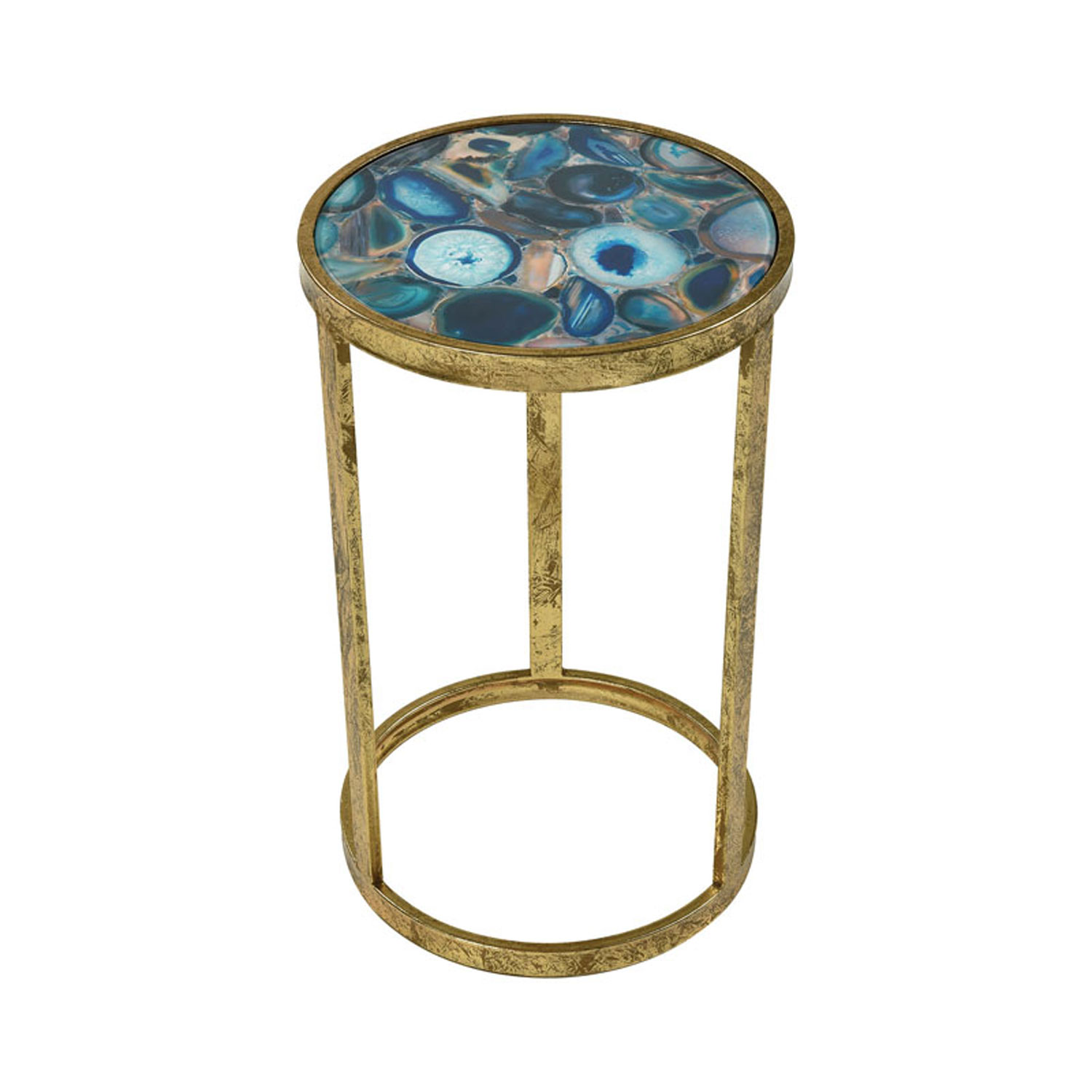 sterling industries krete blue agate accent table bellacor metal hover zoom counter height pub light wood end tables patio tiles mini lamp dark bedroom furniture homepop sofa