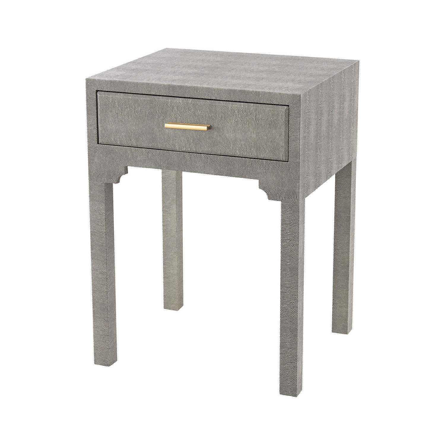 sterling industries sands point grey faux shagreen accent table outdoor side hover zoom outside tables nautical kitchen lighting fretwork mosaic coffee gray dining room furniture