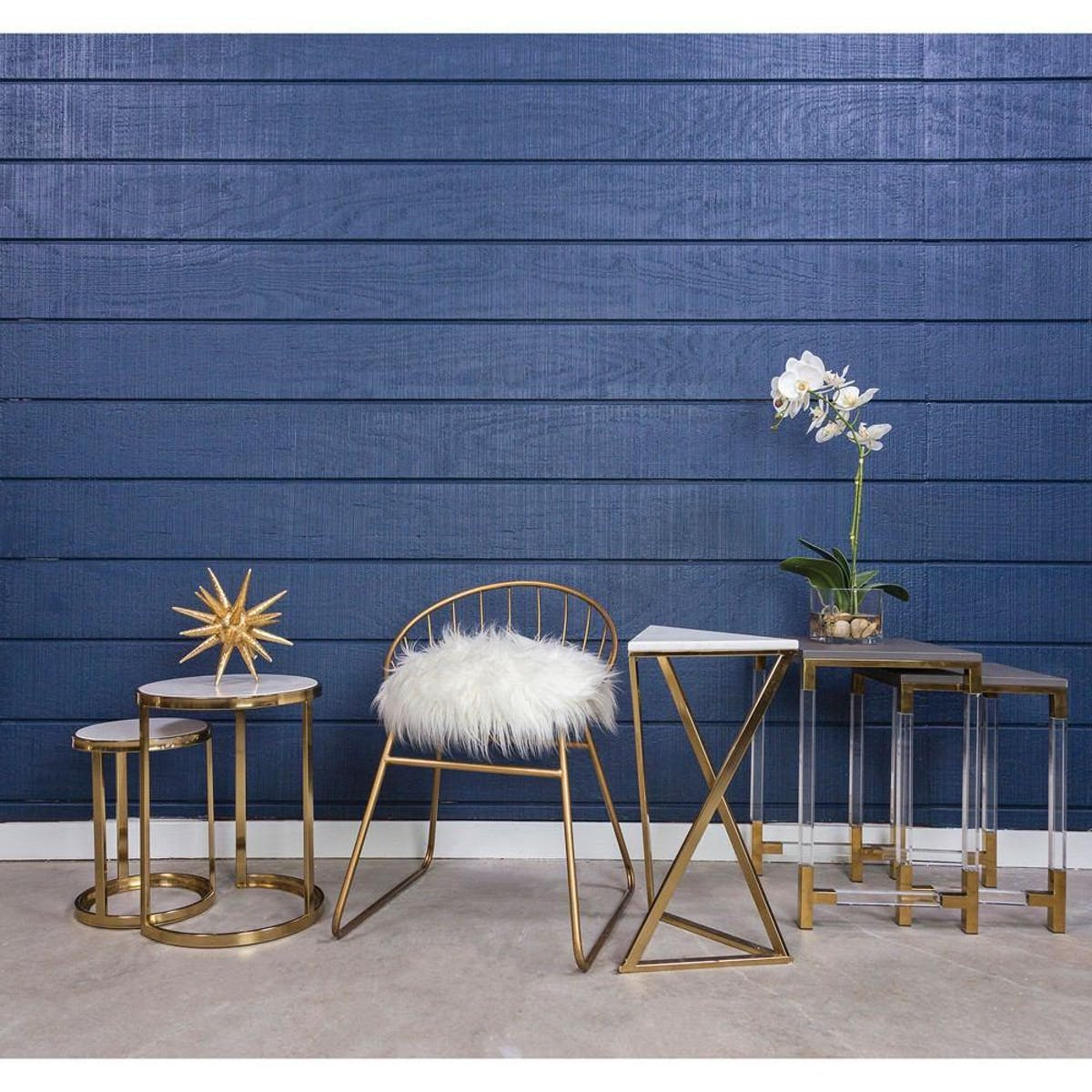 sterling industries trimalchio gold plated accent table set pool umbrellas bunnings laptop side nesting tables living room blue lamp round decor quilted toppers narrow kitchen