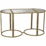 sterling industries versailles gold accent console table glass drummer stool with backrest curved patio umbrella round cover mango wood end covers square legs funky tables unique 150x150