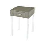 sterling industries ville grey faux shagreen and clear acrylic accent table inch hover zoom victorian lamps garden furniture covers fur west elm paint colors small front porch 150x150