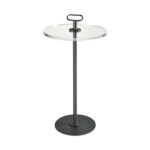 sterling industries whitley dark pewter and clear acrylic inch accent table hover zoom storage furniture for small spaces height tables metal legs modern mid century lamps silver 150x150