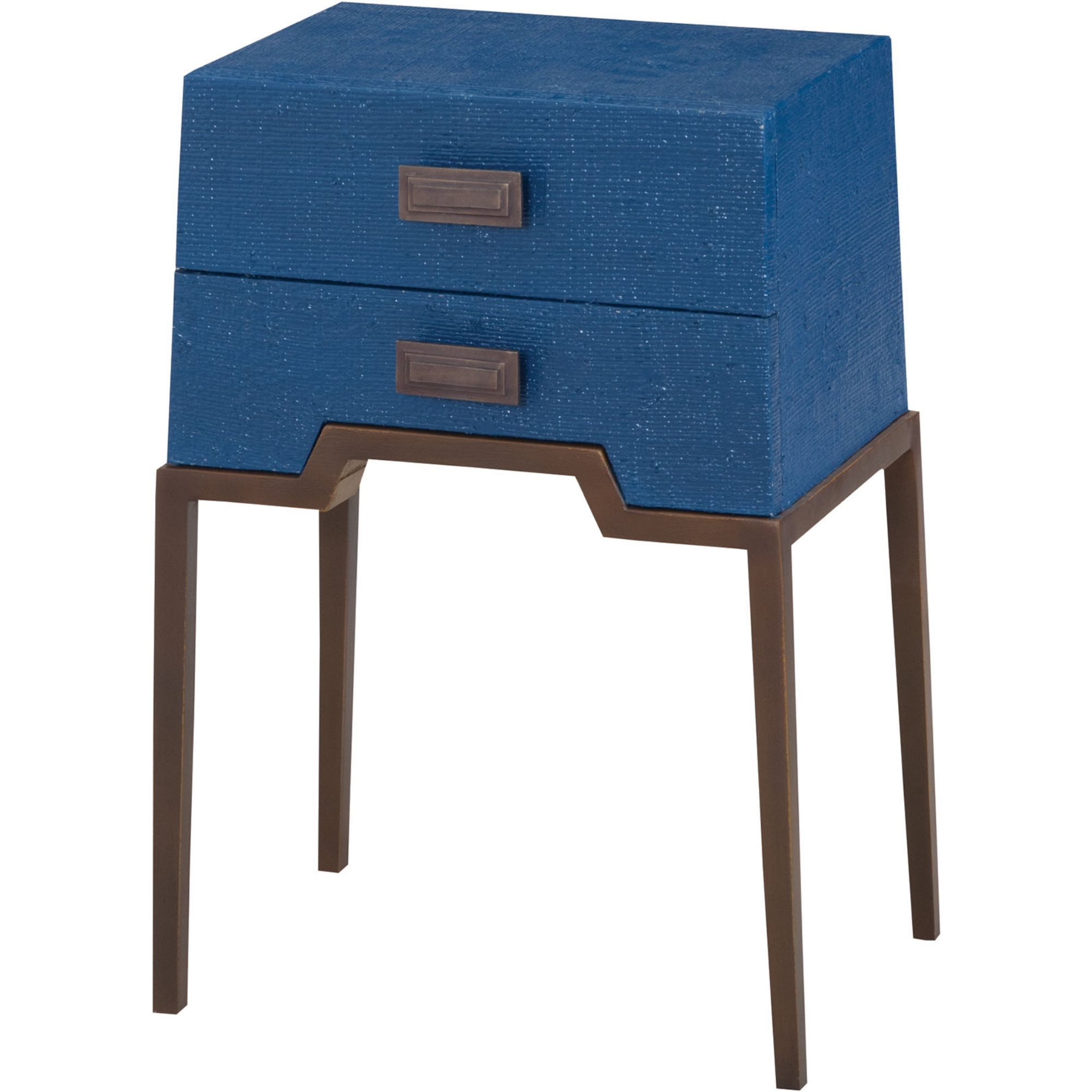 sterling industries ziggy blue accent table natural navy raffia aged brass tone big sun umbrella cocktail sets small space bedroom furniture bayside furnishings cabinet cool