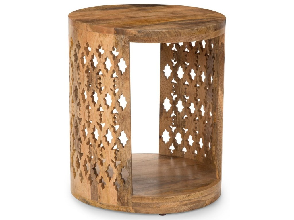 steve silver accents contemporary brinley round end table products color threshold parquet accent accentsbrinley iron wine rack with glass holder furniture for the home pork pie