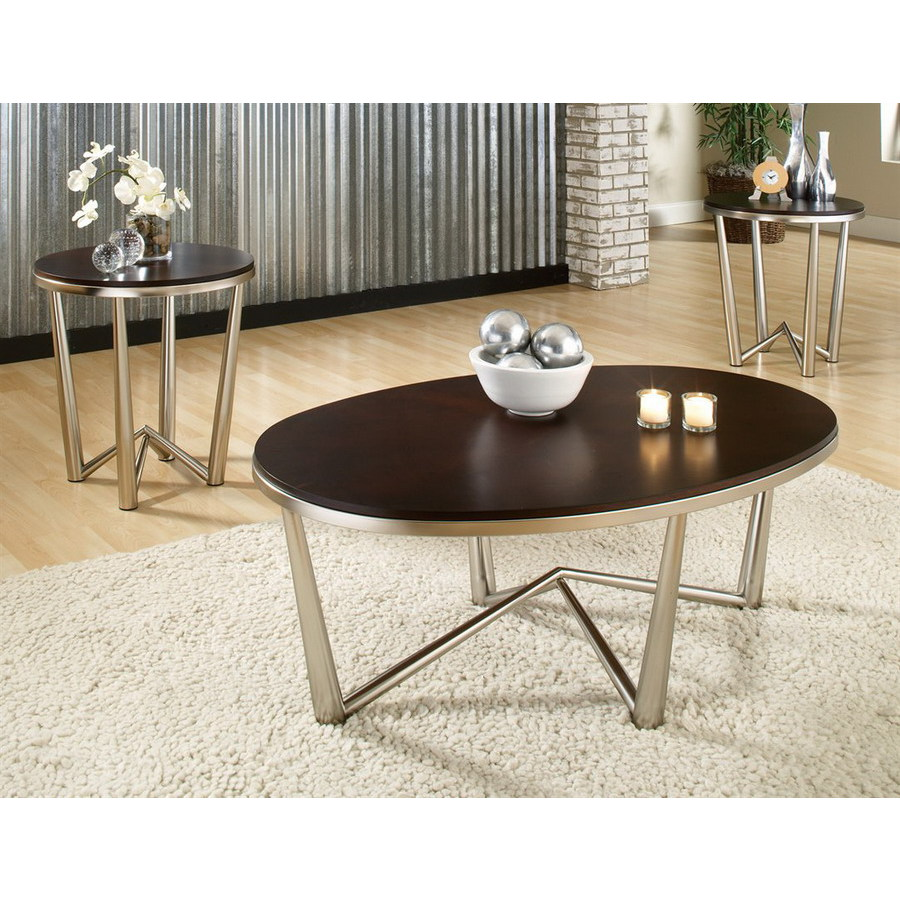 steve silver company cosmo espresso brushed nickel metal accent table set wood nightstand glass top sofa small side coffee pool umbrella stand round tablecloth wine stoppers